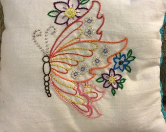 Spring butterfly pillow