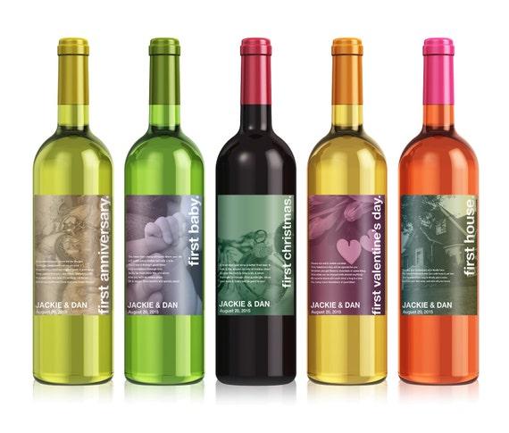 Wedding Milestones Wine Label