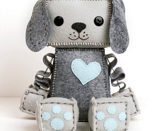 Large Puppy Robot Plush