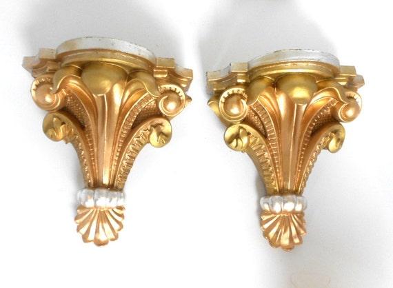Shelf Sconces SetDecorative SconcesPair of Wall Gold