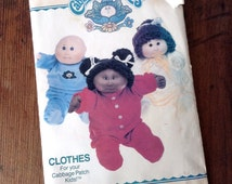 Cabbage Patch Kids 80's Butterick Doll Clothes Pattern 6507