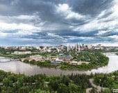 Edmonton - Winding River, Fine Art Print