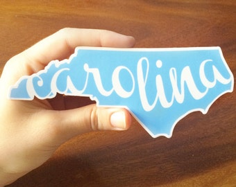 "North Carolina ""Carolina"" Vinyl Decal"