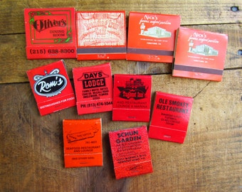 Vintage Advertising Matchbook - Red Matchbooks - Restaurant Matchbooks