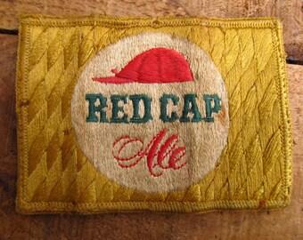 Vintage Red Cap Ale Beer Uniform Brewery Patch - Vintage Brewery Patch