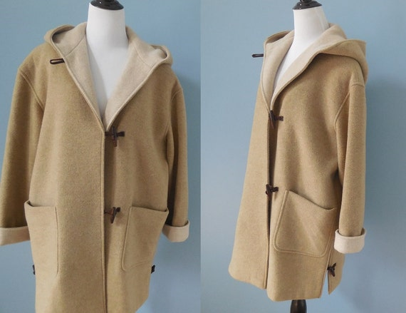 Vintage Mackintosh DUFFLE COAT hooded oversize WOOL coat