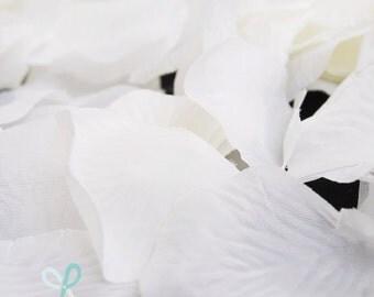 300 piece silk rose petals White