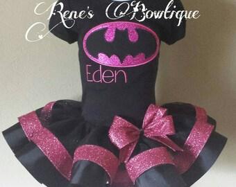 Batgirl Ribbon Tutu Set