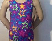 Gymnastics Leotard, Girls Sizes 2 to 12 - Superstars Gymnastics and Dance Leotard