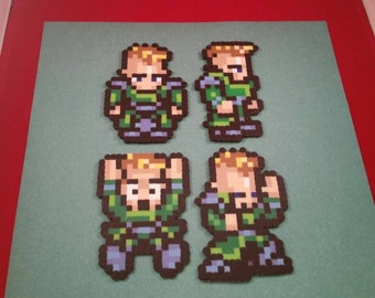 Final Fantasy VI/Final Fantasy III (US) perler bead sprite General Leo choose from 1 of 4 stances or get all 4, plain or magnet