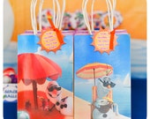 Girly Olaf Summer Gift Bag Fronts; Girly Olaf Summer Party; Girly Olaf Summer Birthday Party Gift Bag Fronts and Tags