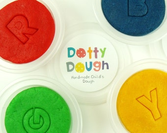 Handmade Dotty Dough - classic bright colours