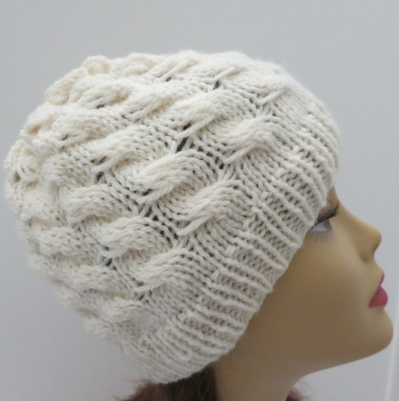 Knit Beanie Pattern Worsted Weight : Hat Knitting Pattern Tam Beanie Winter Hat Worsted Weight