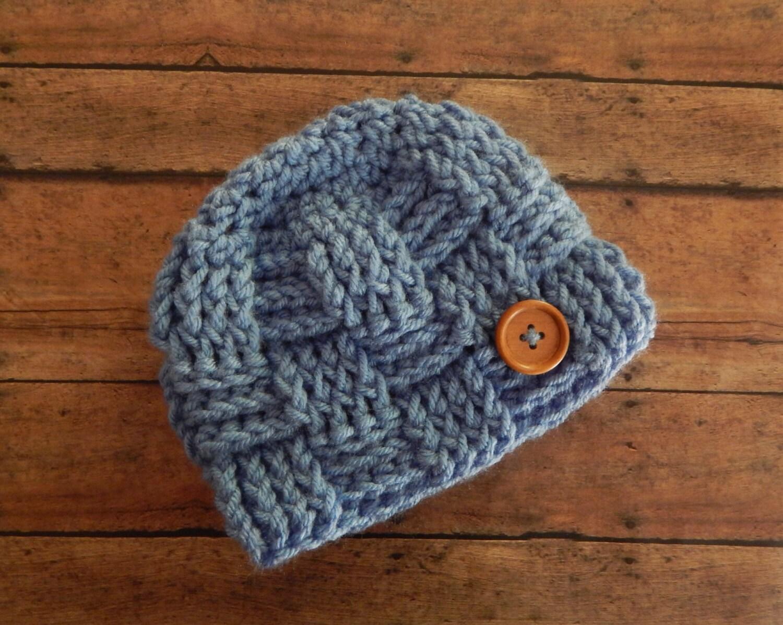 How To Make A Basket Weave Hat : Basketweave baby boy hat basket weave beanie