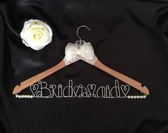 Handmade Bridesmaid Personalised Hanger