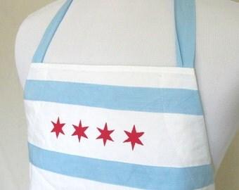 Chicago flag inspired apron
