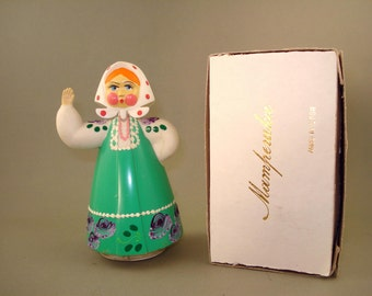 Vintage old Rare Russian Soviet Hard plastic Dancing Doll  - USSR - New in Box