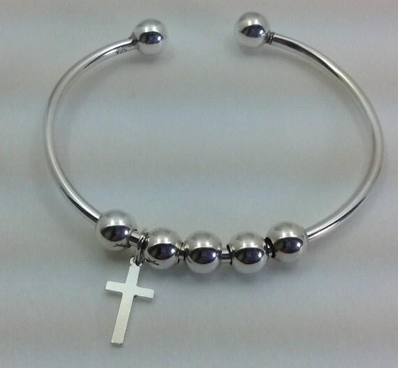 sterling silver add a charm cuff bracelet
