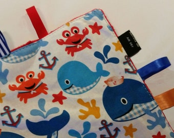 Sensory Toy | Baby Crinkle Toy | Nautical Nursery