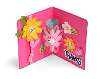 Sizzix Framelits Die Set 21PK - Card w/Flowers 3-D Drop-ins by Stephanie Barnard