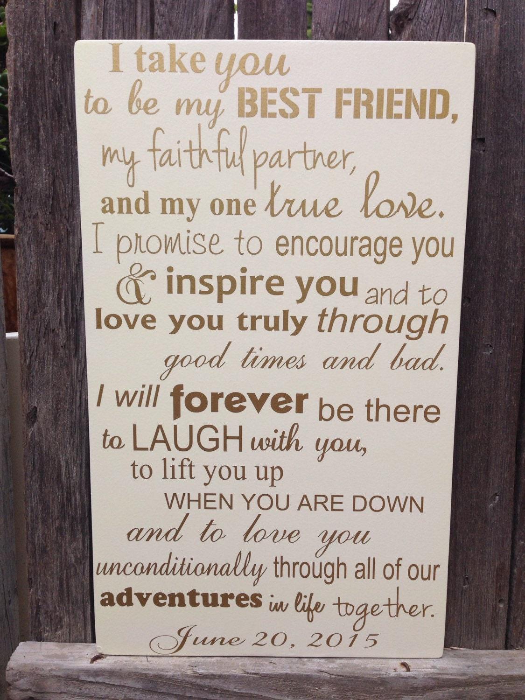 Best Wedding Gift For My Best Friend : Third Anniversary Gift 3rd Anniversary Gift Wedding Vows Wood