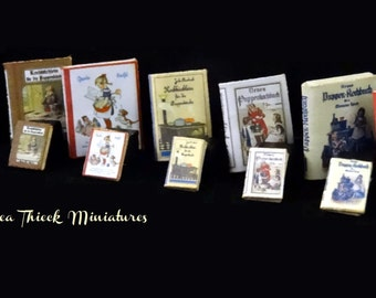 Vintage Miniature Cooking Books for Dolls - 1/12 or 1/24 - SET 2 choose the ones you like