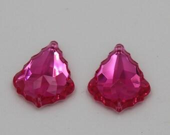 Hot Pink Pendant Pieces