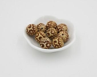 Ethnic Round Focal Beads