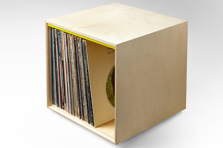 Stackable Storage Cube Yellow Lp Vinyl Record Storage
