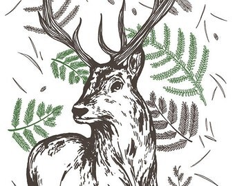 A5 print: Scottish Stag