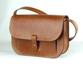 FIORENZA- brown leather purse / handbag/ crossbody bag/ saddle bag/ messenger bag/ satchel/ pouch/