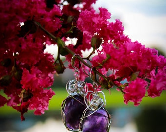 Amethyst Wrapped Earrings