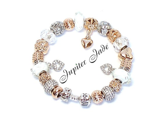 New authentic pandora 925 silver charm bracelet with european charms