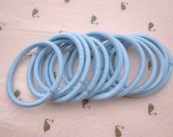 Sale--50 pcs blue hair elastics, ponytail elastics,ponytail holders,pigtail holders
