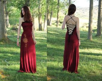 Lotus dress. Maxi Long bohemian dress. wedding dress. Goddess dress. Backless long dress. Maxi dress. Party dress. Romantic dress.