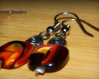 Fire Red Lentil Earrings