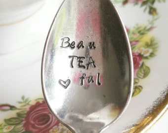 Sweet teaspoon with beau-TEA-ful, gift, tea, coffee