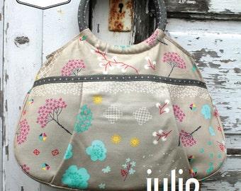 Swoon Patterns: Julie Ring Top Handbag - PDF Vintage Bag Purse Handbag Sewing Pattern