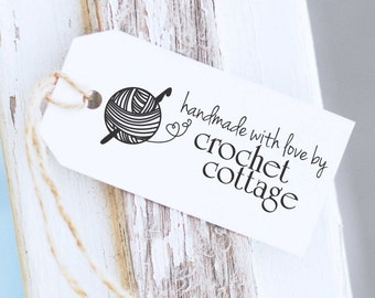Crochet Rubber Stamp - Custom Made By Stamp, Crochet Hook Stamp, Yarn Stamp, Crafters Stamp, 10178