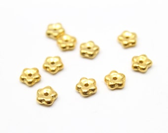 Gold Czech Crystal Spacers for Beads and Jewelry Making 5mm 10pcs