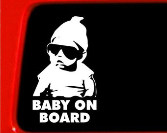 "Baby on Board Carlos Hangover 8"" Vinyl Decal Widow Sticker for Car, Truck, Motorcycle, Laptop, Ipad, Window, Wall, ETC"