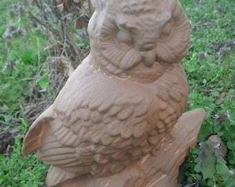 Outdoor garden owl Garden statue MADE TO ORDER gifts for her garden Large outdoor owl statue gifts for his garden gifts for dad gift for mom
