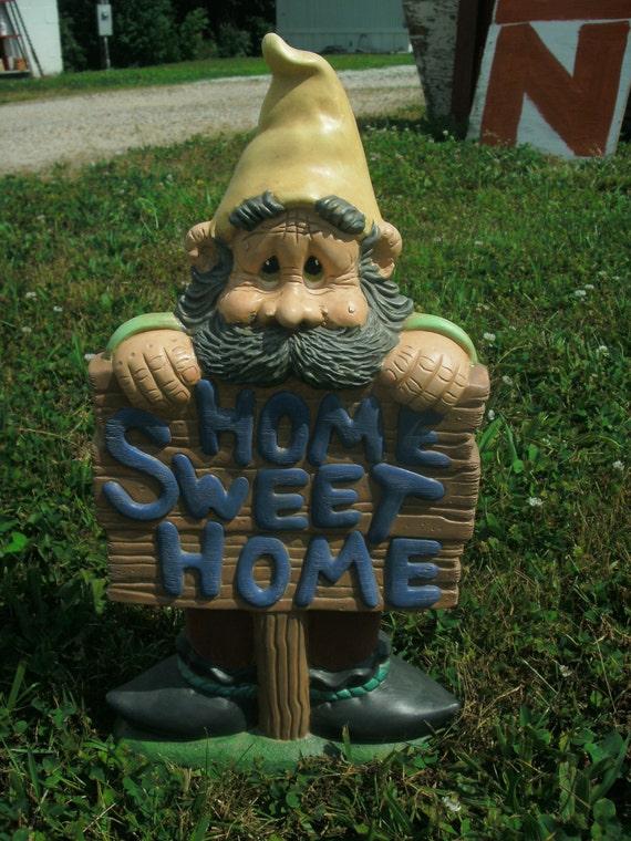 Gnome In Garden: Large Gnome Home Sweet Home Garden Gnome Gnome