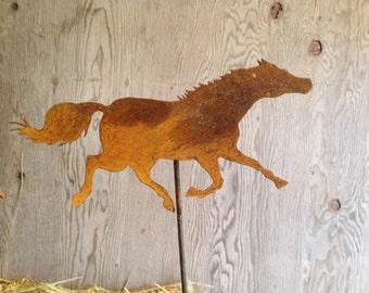 Rusted Metal Garden Horse