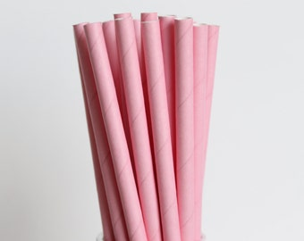 Pink Solid Paper Straws-Pink Straws-Party Straws-Wedding Straws-Baby Shower Straws-Mason Jar Straws-Pink Paper Straws-Cake Pop Sticks