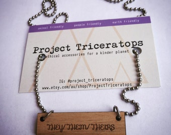 SALE They / Them / Theirs charm necklace.