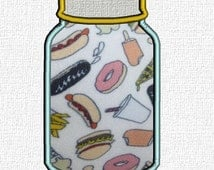 Mason jar applique design in 4 sizes. Mason jar embroidery design. 4x4 to 5x7 hoop applique instant download