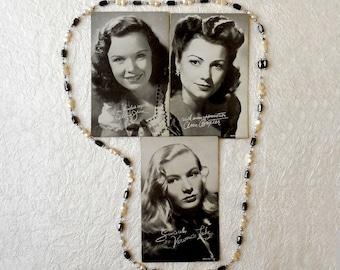 Vintage Arcade Photo Card - Movie Star Postcards - Penny Arcade Photos - Actress Ann Baxter -  Veronica Lake - Gloria Jean Actress