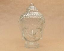 Vintage glass Buddha head - mannequin head - wig or jewellery display - photo prop