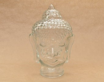Vintage glass Buddha head - mannequin head - wig or jewellery display - photo prop